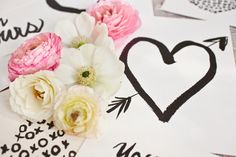 hearts + flowers.