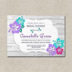 Hawaiian Bridal Shower Invitation Printable by tranquillina, $13.00