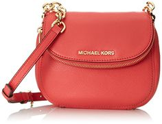 Women's Cross-Body Handbags - MICHAEL Michael Kors Womens Bedford Flap Cross Body Bag Watermelon One Size ** More info could be found at the image url.