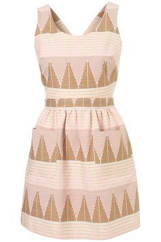 Topshop: Petite Textured Pinafore Dress