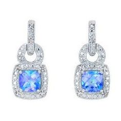Pacific Fire Topaz These earrings look so much like the ring the robbers stole from my house that I just can't find anywhere!