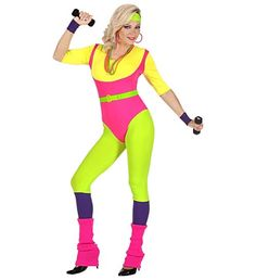 Here is Aerobic Outfit Picture for you. Aerobic Outfit get ready . Retro Fitness, Best 80s Costumes, Costumes For Women, Call On Me, 80s Workout Costume, 80s Workout Clothes, Cheveux Beiges, Look 80s, Shopping