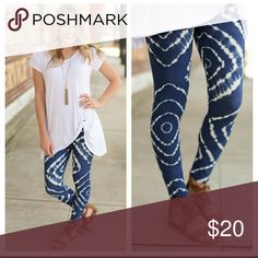 Rad Blue & White Leggings 🎉 COMING SOON Rocking blue and cream leggings.   Available in OSF (Fits most 2-12/14)  92% Polyester 8% Spandex  Soft and super comfortable.   COMING SOON LIKE OR COMMENT FOR NOTIFICATIONS. Infinity Raine Pants Leggings
