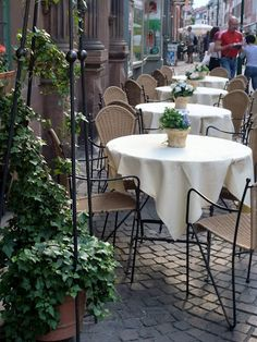 street cafe in Heidelberg