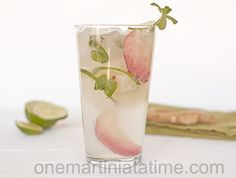 White Peach Ginger Mojito {with Ginger Mint}