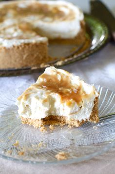 Salted Caramel No-Bake Cheesecake