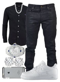 """""""Why You Always Hating"""" by crenshaw-m4fia ❤ liked on Polyvore featuring Case-Mate, Yves Saint Laurent, NIKE, David Yurman, Rolex, Asprey, men's fashion and menswear"""