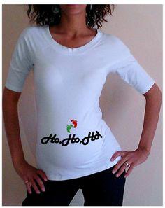 White Chritmas Maternity Shirt/Tee HoHoHol by DJammarMaternity, $24.99