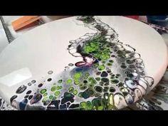 Acrylic pvc slide on circle panel number 11 artwork - YouTube