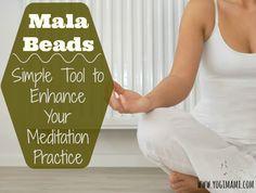 How to use Mala Beads to enhance meditation practice. Perfect tool for beginners to meditation. #meditation #malabeads #yoga www.yogimami.com