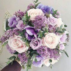 Purple Wedding Bouquets, Wedding Flower Arrangements, Bride Bouquets, Bridal Flowers, Flower Bouquet Wedding, Tulip Bouquet, Flower Bouquets, Light Purple Wedding, Prom Bouquet