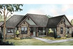 Florida Ranch Style House Plans Inspirational Ranch House Plan 108 1722 3 Bedrm 2283 Sq Ft Home Zeina, Ranch Style Homes, Ranch Homes, Ranch House Plans, Story House, Traditional House, House Design, How To Plan, House Styles