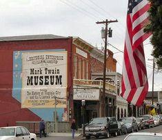 "Mark Twain Museum -Virginia City Nevada (Yep - I love ""ghost"" towns. Reno Nevada, Nevada Usa, Reno Tahoe, Virginia City, Mark Twain, Ultimate Travel, Ghost Towns, Lake Tahoe, Places Around The World"