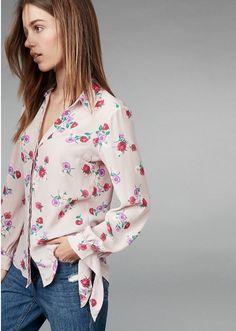 8ddce35d3e3 Slim Fit Floral Tie Sleeve No Pocket Portofino Shirt Floral Print Women s  Medium