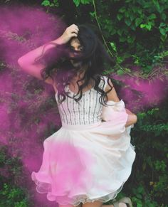 If you take selfies, hate selfies, or simply have an opinion on the carefully styled, Instagram filtered perfect life of others, this post is for you. // Chi Chi London Clothing // pink smoke bomb photoshoot // outfit idea // short prom dress // special occasion dress // party outfit // pink girly dress // long hair // photography inspiration // moody soulful enchanting magical portrait