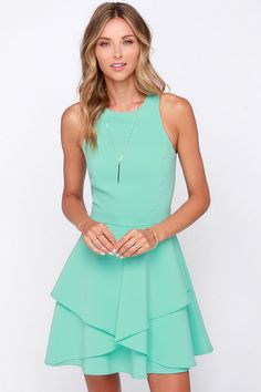 Hold Me Closer Mint Dress at Lulus.com! I think these are super cute @Kruby90  @jaclyyn @kelsi_e