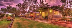Accommodation - Riverfront 2 Bedroom Holiday Cabin - BIG4 Deniliquin Holiday Park. This beautiful gem in our accommodation range is right on the river, is fully self-contained and sleeps up to 4 people. Perfect for that family getaway.