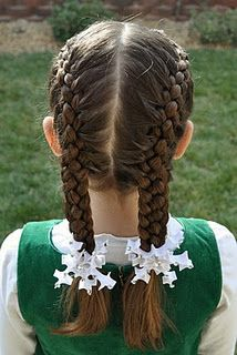 Double french 5-strand braid.  If I ever have a little girl :)
