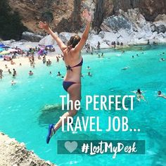Win it! Change your life - GIVEAWAY! Enter to Win 👉 LINK IN BIO @lostmydesk 👈 🌴💓🌴💓 SHOUTOUTS GO TO 👉 @merinomade @taleesitatravels and @_mrs.sparrow Thanks for commenting to tell us on previous post what THE PERFECT TRAVEL JOB WOULD MEAN TO YOU OR HOW IT HAS CHANGED YOUR LIFE BY HAVING ONE 💓🌴 . . Hi everyone! Tammie here from Lost My Desk that's me jumping off the cliff into those amazing blue waters! I started my own Remote Business over 7+ years ago so that I could work from home…