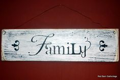 Primitive Sign FAMILY by RedBarnGatherings on Etsy