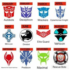 Your month of birth transformers insignia by autoking on DeviantArt