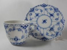 Royal Copenhagen Blue Fluted Full Lace - exquisite pattern and, of course, blue and white