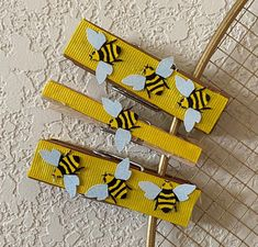 BUSY BEE CLOTHESPIN Magnet Set of Three | Etsy Nautical Office, Clothespin Magnets, Gardening Books, Busy Bee, Chucky, Daughter Love, Tea Towels, Cotton Linen, Third