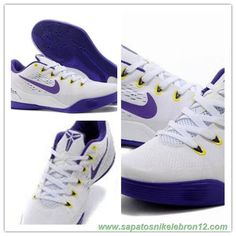 the best attitude 999aa c900f 653972-703 Branco   Roxo Nike Kobe 9 EM produtos de basquete