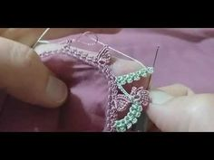 iki renkli sıralı tasarım oyam harika bir tasarım oya modeli #oya #oyamodelleri #crochet - YouTube Crochet Stitches Patterns, Baby Knitting Patterns, Hand Knitting, Stitch Patterns, Diy Crochet Projects, Tatting Jewelry, Crochet Lace, Hand Embroidery, Needlework