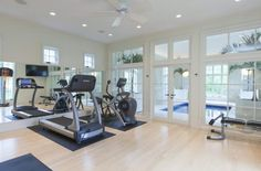 homes of the rich, work out room with french doors to inndoor pool - spa Screen shot 2013-10-12 at 9.31.25 PM