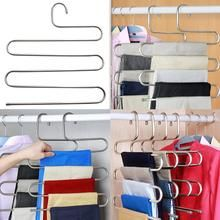 Fashion Pants Hanger Trousers Organizer Hanging Clothes Rack Hanger Layers Clothing Storage Space Saver Closet Organization Home Decor Bedroom Accessories Closet Organizer Pants Rack, Trouser Hangers, Hanging Clothes Racks, Clothes Hanger, Hose Hanger, Closet Bedroom, Home Decor Bedroom, Bedroom Ideas, Laundry Shelves