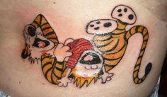 Calvin & Hobbes. Just love it!! Perfect Tattoo!!
