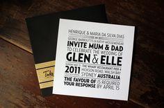 INVITATIONS - ELLE + GLENN