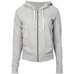 JAMES PERSE Classic LS Zip Up Hoodie Heather Grey ($110) ❤ liked on Polyvore featuring jackets, tops, hoodies, outerwear and james perse