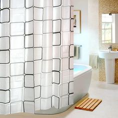 Eforgift Eco-friendly Modern Check (Black / White) Peva Non-mildew Shower Curtain Decor Bathroom Curtain for Teens 72 Inches (72wx72l) eForGift http://www.amazon.com/dp/B00KO6I0I4/ref=cm_sw_r_pi_dp_GLcyub12TNCMS