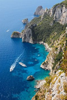 Capri, Italy - Been there and the water really is that blue!