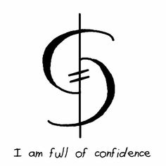 """Sigil Athenaeum - """"I am full of confidence"""" sigil Magic Symbols, Symbols And Meanings, Hobo Symbols, Confidence Tattoo, Wiccan, Magick, Chinese Tattoo Designs, Chinese Tattoos, Book Of Shadows"""