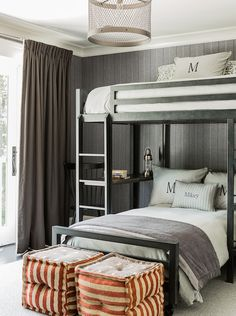 Boy's room with loft bed | Brooks and Hill Custom Builders