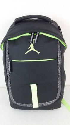 NWT Nike Air Jordan Jumpman Backpack Black Ghost Green Elephant Print  9A1685-171  Nike 43632b8288cf9
