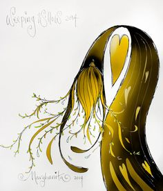 "Crying is good for you...""Tears of the Weeping Willow"" Marghanita Hughes : www.marghanita.com"