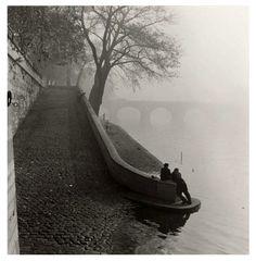 Seine in the mist  Paris circa 1955  Kees Scherer//
