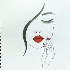 Art Drawings Sketches Simple, Pencil Art Drawings, Girl Drawing Sketches, Art Painting Gallery, Drawings Of Friends, Art Drawings Beautiful, Diy Canvas Art, Makeup Eyes, Girl Face