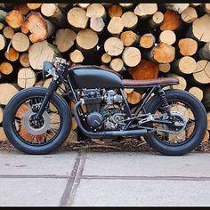 CB550 #hondabrat by @arjanvandenboom at Ironwood Custom Motorcycles in Amsterdam