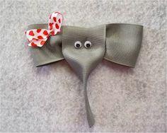 Elefantinho feito de fita gorgurão passo a passo 37e76019c74