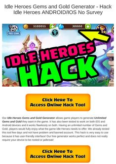 14 Best Idle Heroes Hack 2018 Updated images