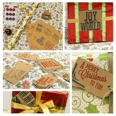Christmas present wrapping ideas! Christmas Gift Tags Template, Christmas Gift Wrapping, Diy Christmas Gifts, Present Wrapping, Wrapping Ideas, Wonderful Time, Wraps, Merry, Joy