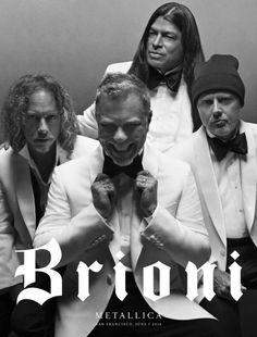 Brionis Kreativdirektor Justin O'Shea holt Metallica für seine erste Kampagne. Das Traditionslabel schlägt damit ein neues Kapitel auf.