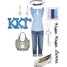 Kappa Kappa Gamma, created by deltagammacj on Polyvore
