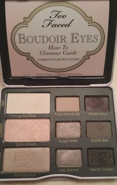 Loving this too faced boudoir eyes makeup palette! has beautiul eyeshadows for a everyday look and can also build up for a night out!