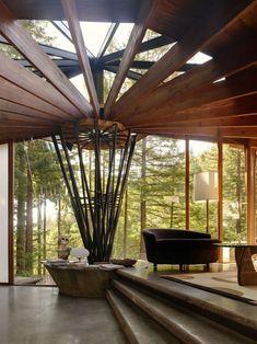 livingroom / wood / house / architecture